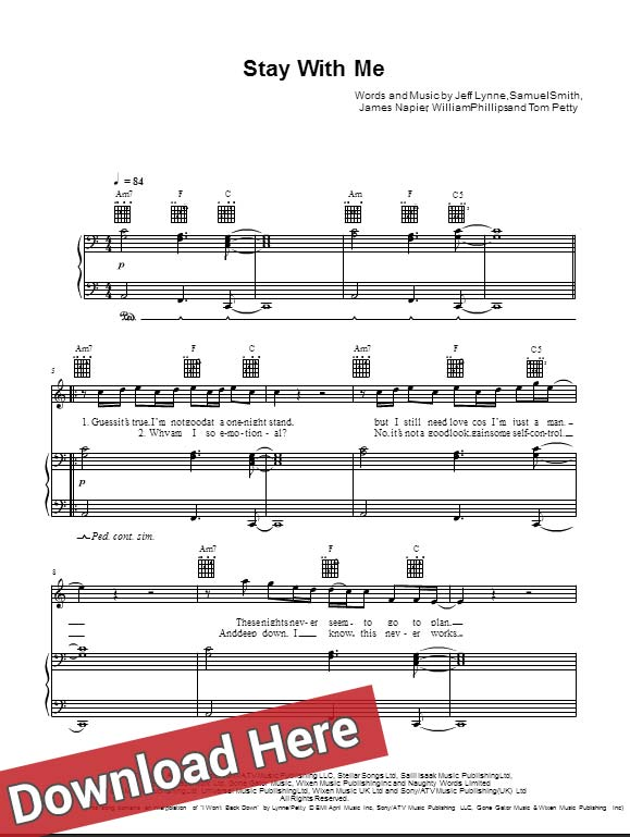 Sam Smith, Stay With Me, sheet music, piano notes, score, chords, download, free