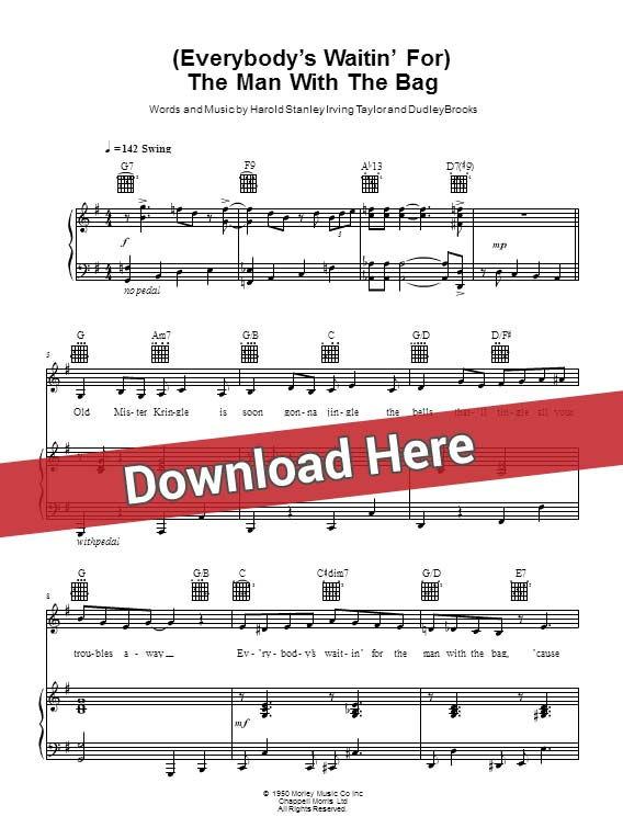 jessie j, everybody's waitin' for the man with the bag, sheet music, piano notes, score, chords, download, keyboard, guitar, tabs, bass, klavier noten, partition, how to play, learn, lesson, guide, tutorial
