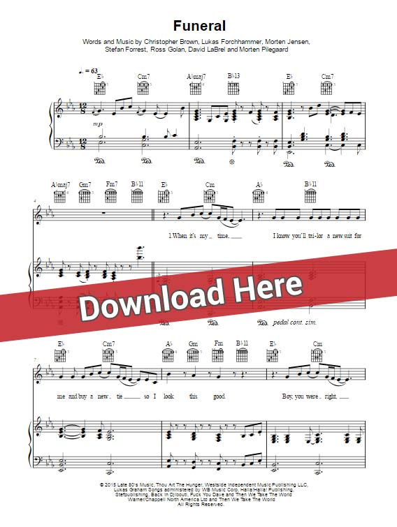 lukas graham, funeral, sheet music, chords, piano notes, score, download, keyboard, guitar, tabs, klavier noten, how to play, learn