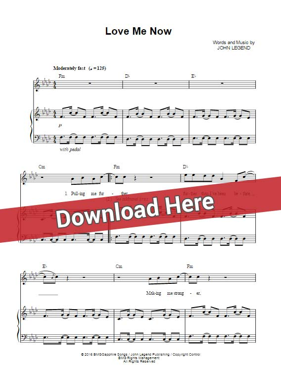 john legend, love me now, sheet music, chords, piano notes, klavier noten, keyboard, guitar, voice, vocals, download